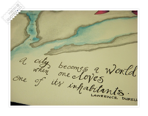 A City Becomes A World Quote