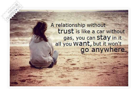 Quotes On Love And Trust Adorable A Relationship Without Trust Love Quote « Quotez○Co