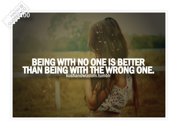 Being With No One Is OK Quote