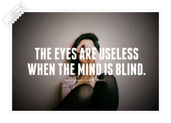 Blind Mind Quote