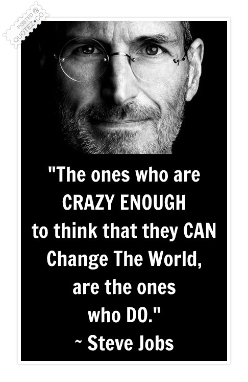 Change The World Quote Steve Jobs