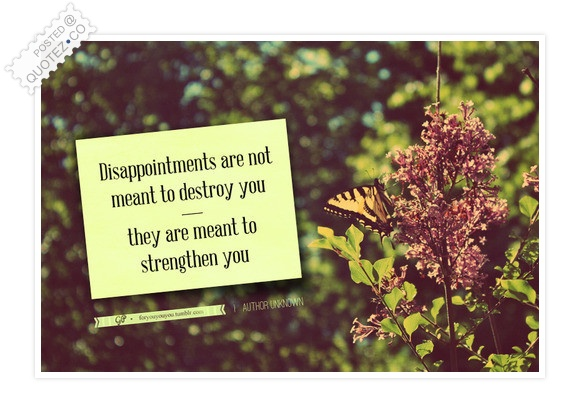 Disappointments Are Meant To Strengthen You Quote