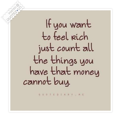 Feel Rich Quote