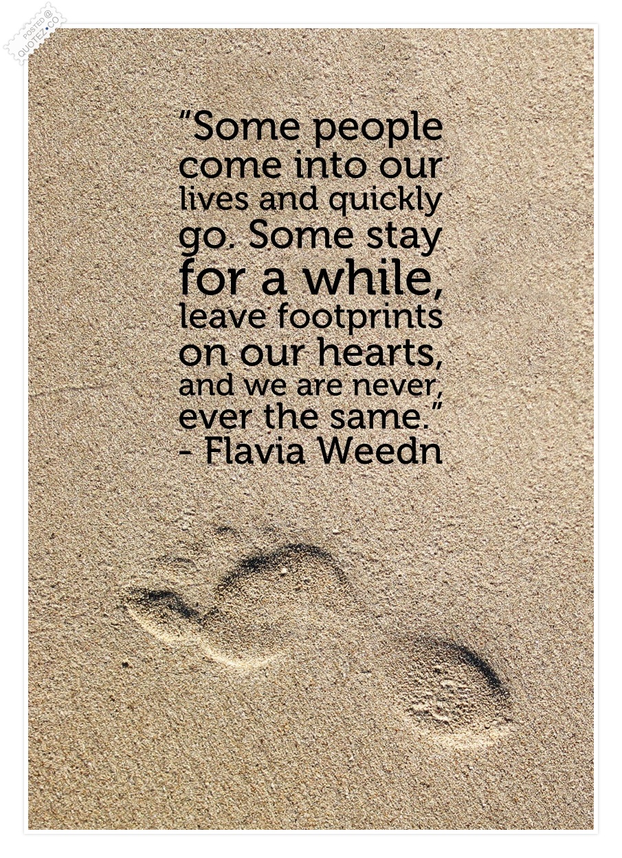 Famous Quote About Friendship Footprints Quotes & Sayings « Quotez○Co