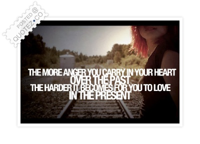Give Up Anger To Love In The Present Quote