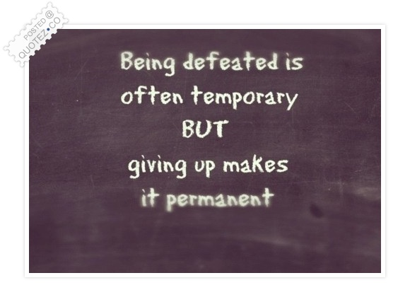 Giving Up Quote