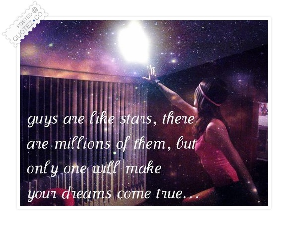 Guys Are Like Stars Quote