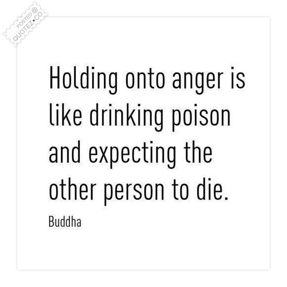 Holding Onto Anger Is Like Drinking Poison Quote