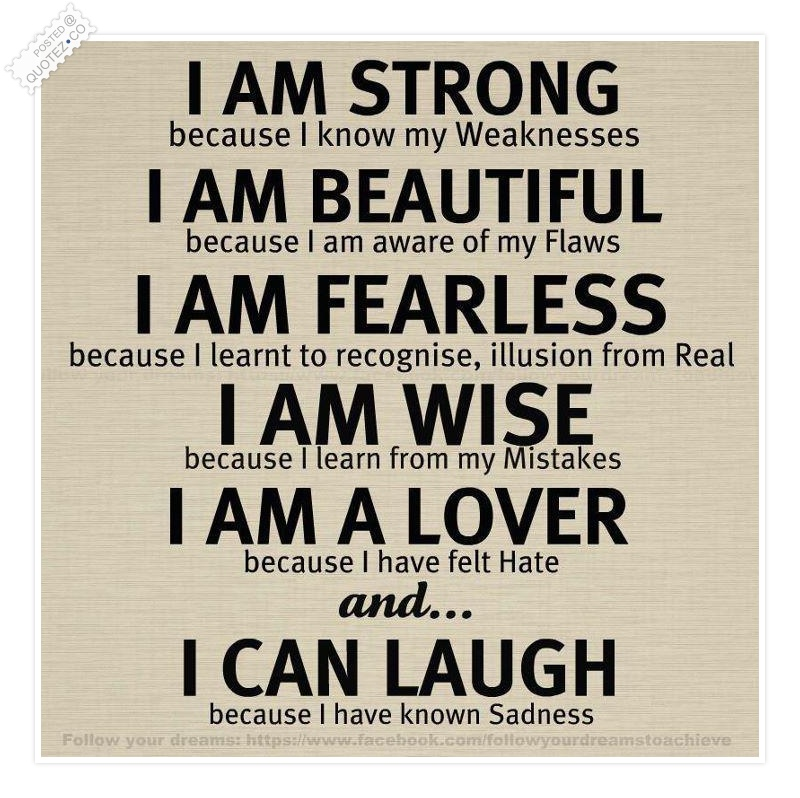 I Am Strong Motivational Quote « QUOTEZ CO I Am Quotes