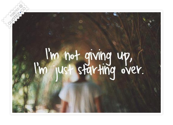 I'm Not Giving Up Quote