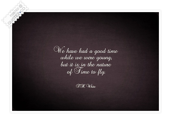 It Is In The Nature Of Time To Fly Quote
