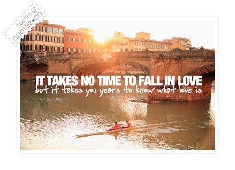 It Takes No Time To Fall In Love Quote