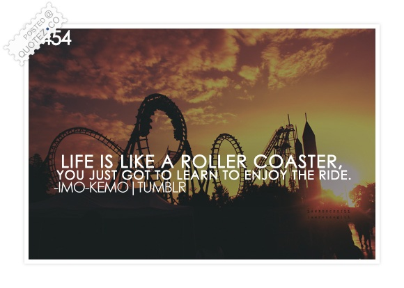 Life Is Like A Roller Coaster Quote