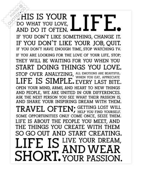 Life Is Short Life Quote QUOTEZ○CO Unique Short Quote About Life