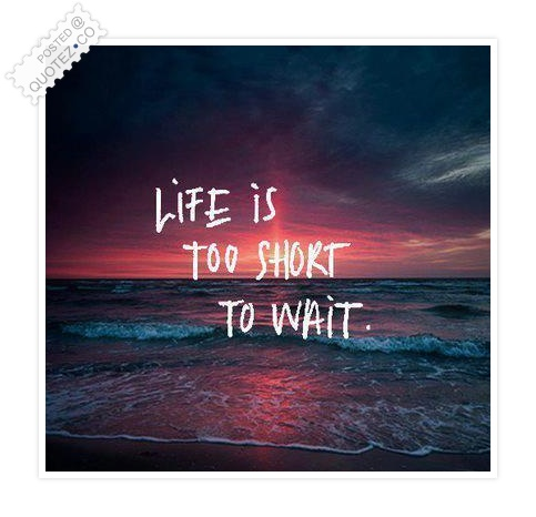 Life Is Too Short To Wait Quote