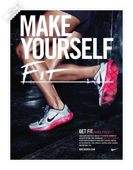 Make Yourself Fit Quote