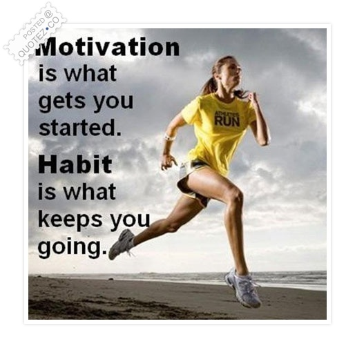 Motivation Is What Gets You Started Quote