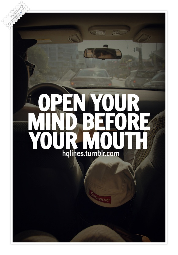 Open Your Mind Quote