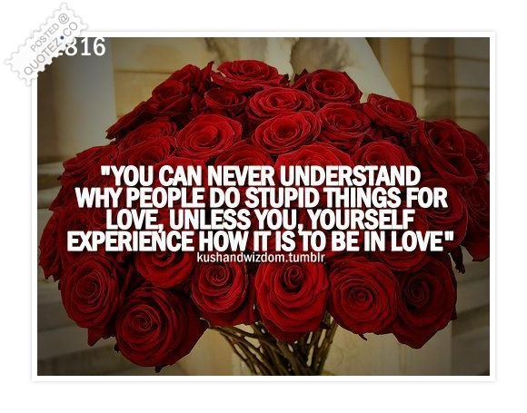 People Do Stupid Things For Love Quote