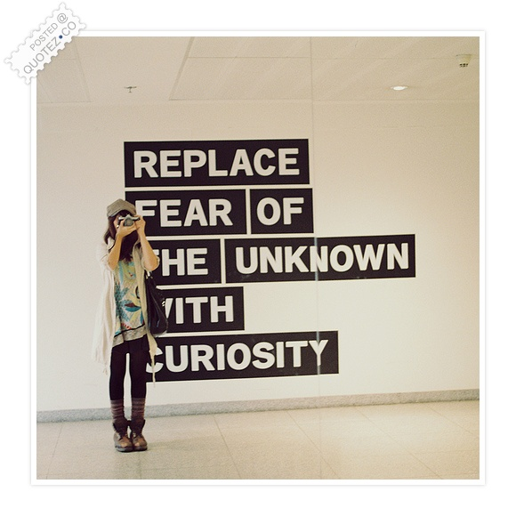 Replace Fear With Curiosity Quote