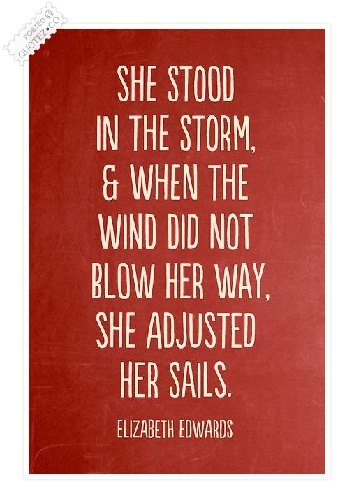 She Stood In The Storm Quote