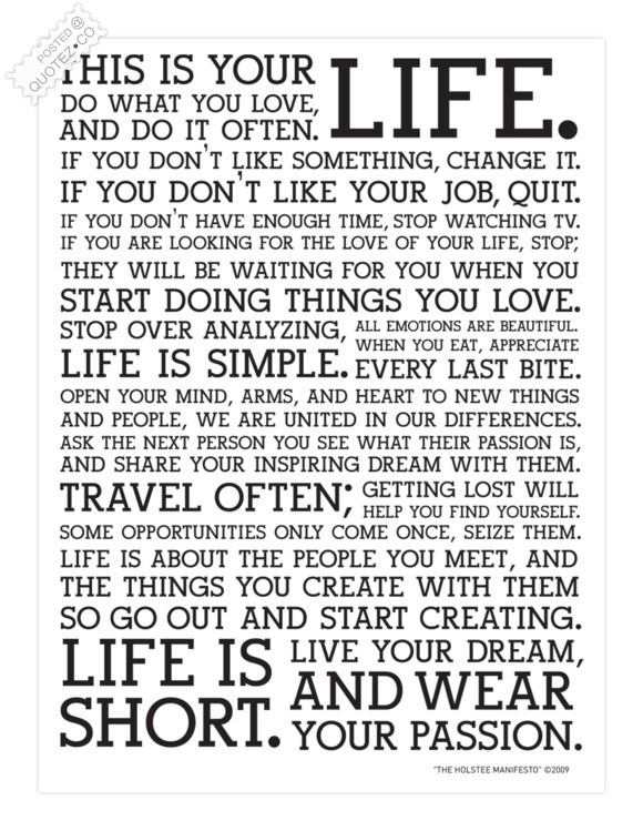 Start Doing Things You Love Quote