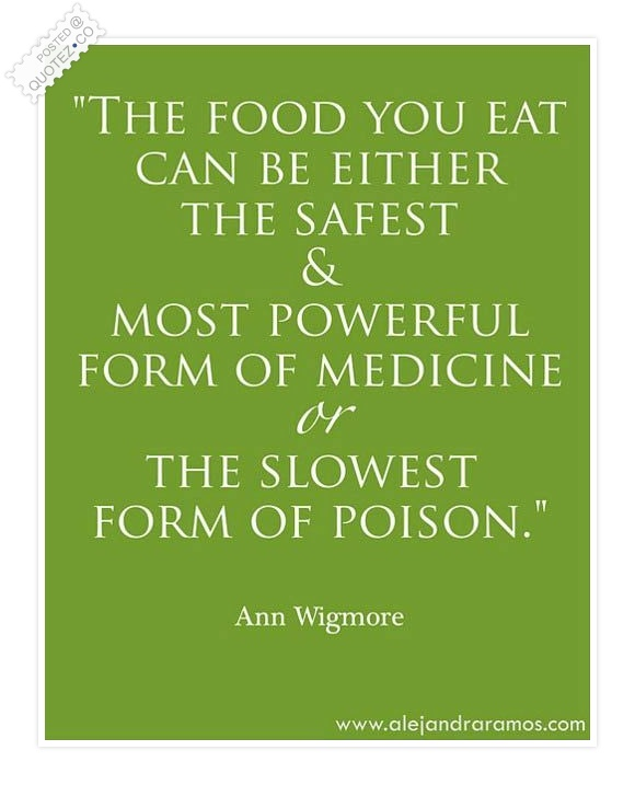 The Food You Eat Quote