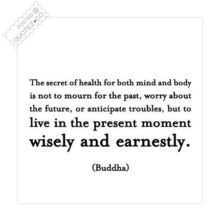 The Secret Of Health Quote