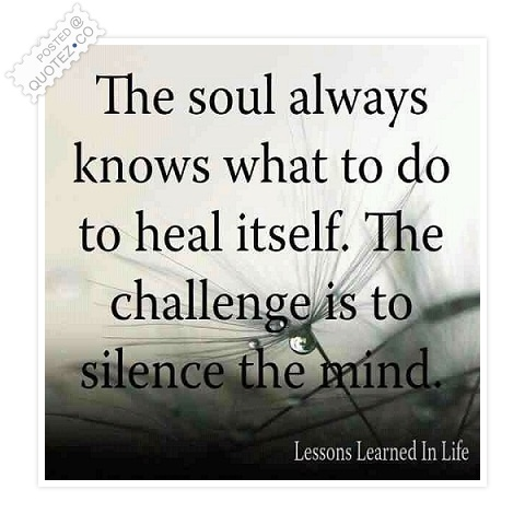 The Soul Always Knows Quote. U201c
