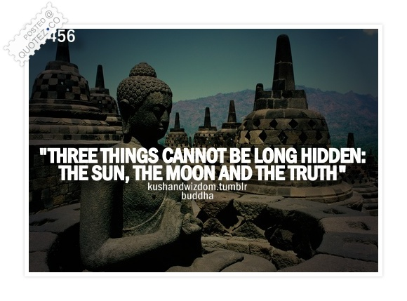 Three Things Cannot Be Long Hidden Quote