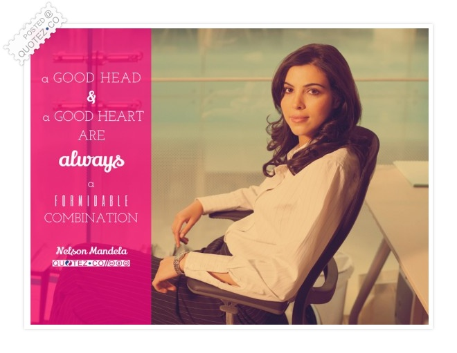 A Good Head And A Good Heart Quote