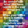 Be Content With What You Have Quote