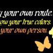 Be Your Own Person Quote