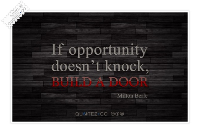 Build A Door Quote