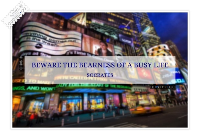 Busy Life Quote