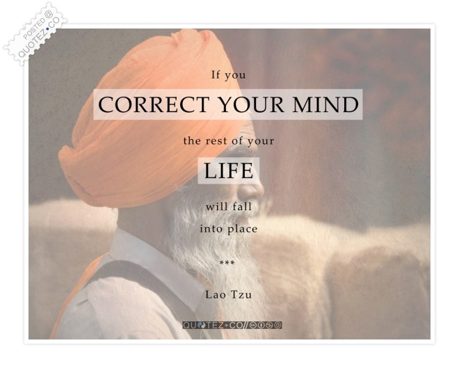 Correct Your Mind Quote