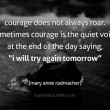 Courage Does Not Always Roar Quote