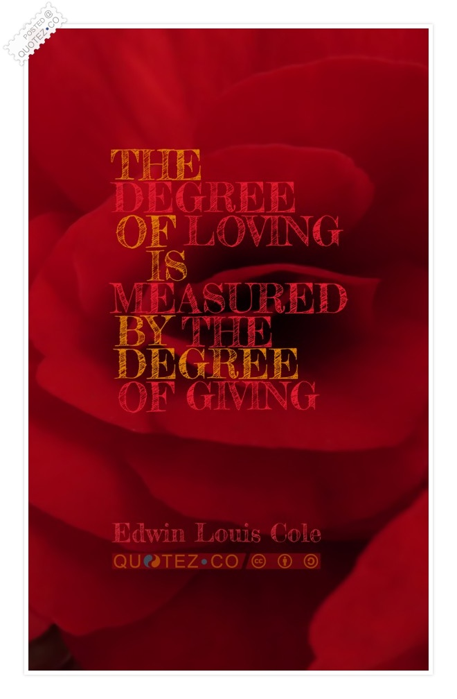 Degree Of Loving Quote