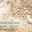 Do Not Give Up Hope Quote