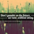 Don't Gamble On The Future Quote