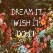 Dream It Do It Quote