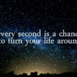 Every Second Is A Chance Quote