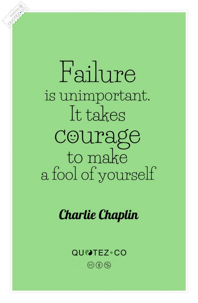 Failure Is Unimportant Quote