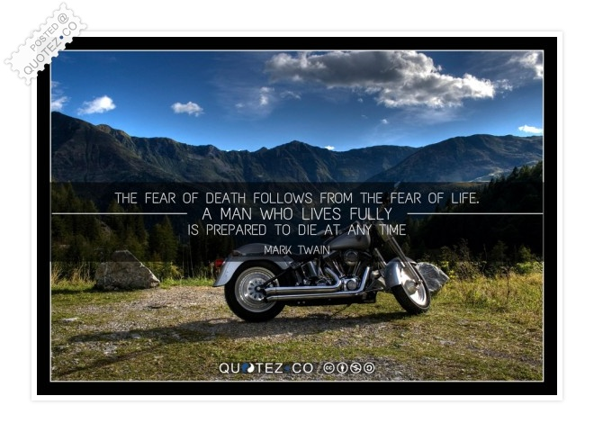 Fear Of Death Quote
