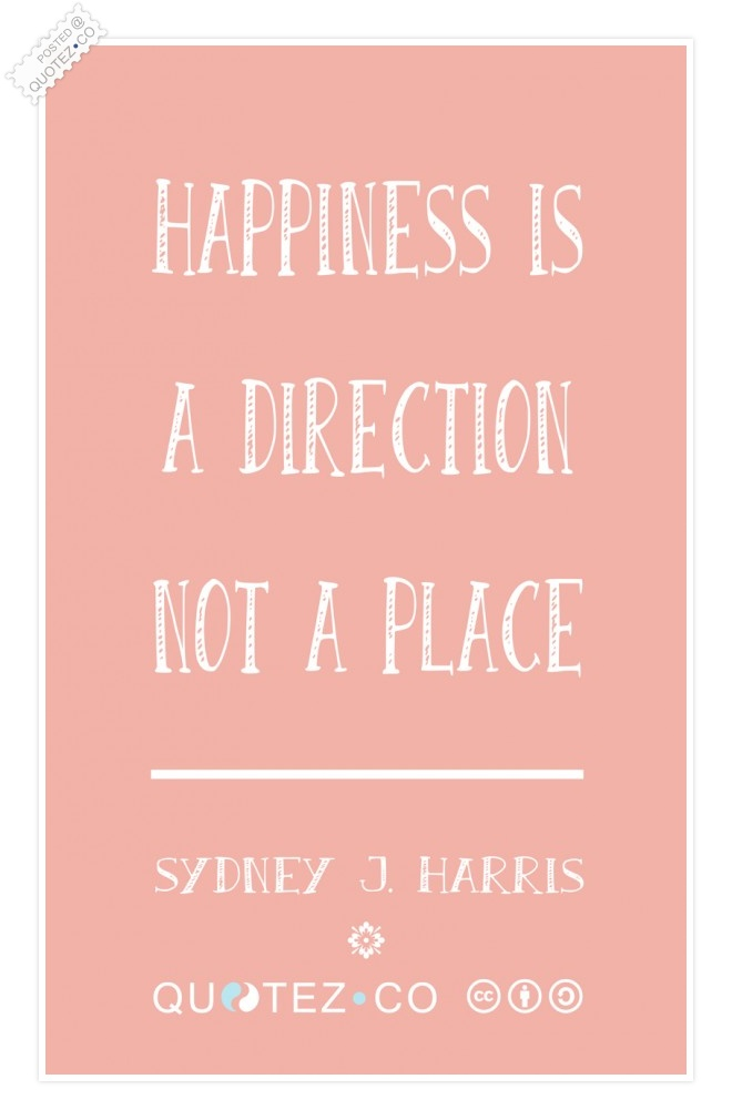 Happiness Is A Direction Quote