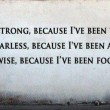 I Am Strong Fearless And Wise Quote