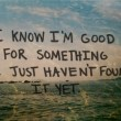 I Know I'm Good For Something Quote
