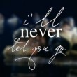 I'll Never Let You Go Quote