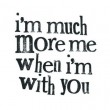 When I'm With You Quote