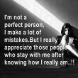 I'm Not A Perfect Person Quote